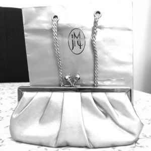 Jessica McClintock Silver Evening Bag